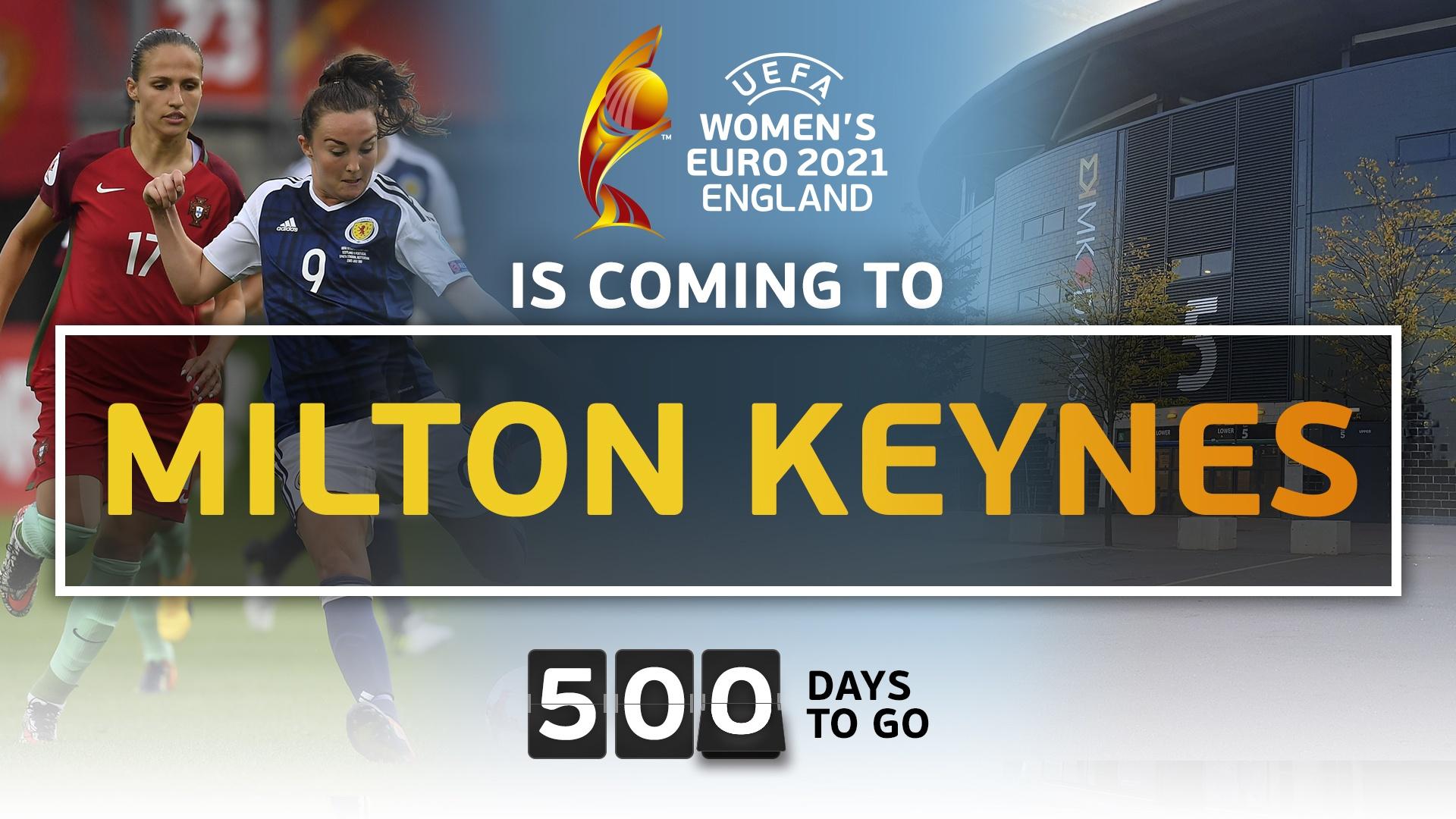 Milton Keynes to host Women's Euro 2021 Semi Final