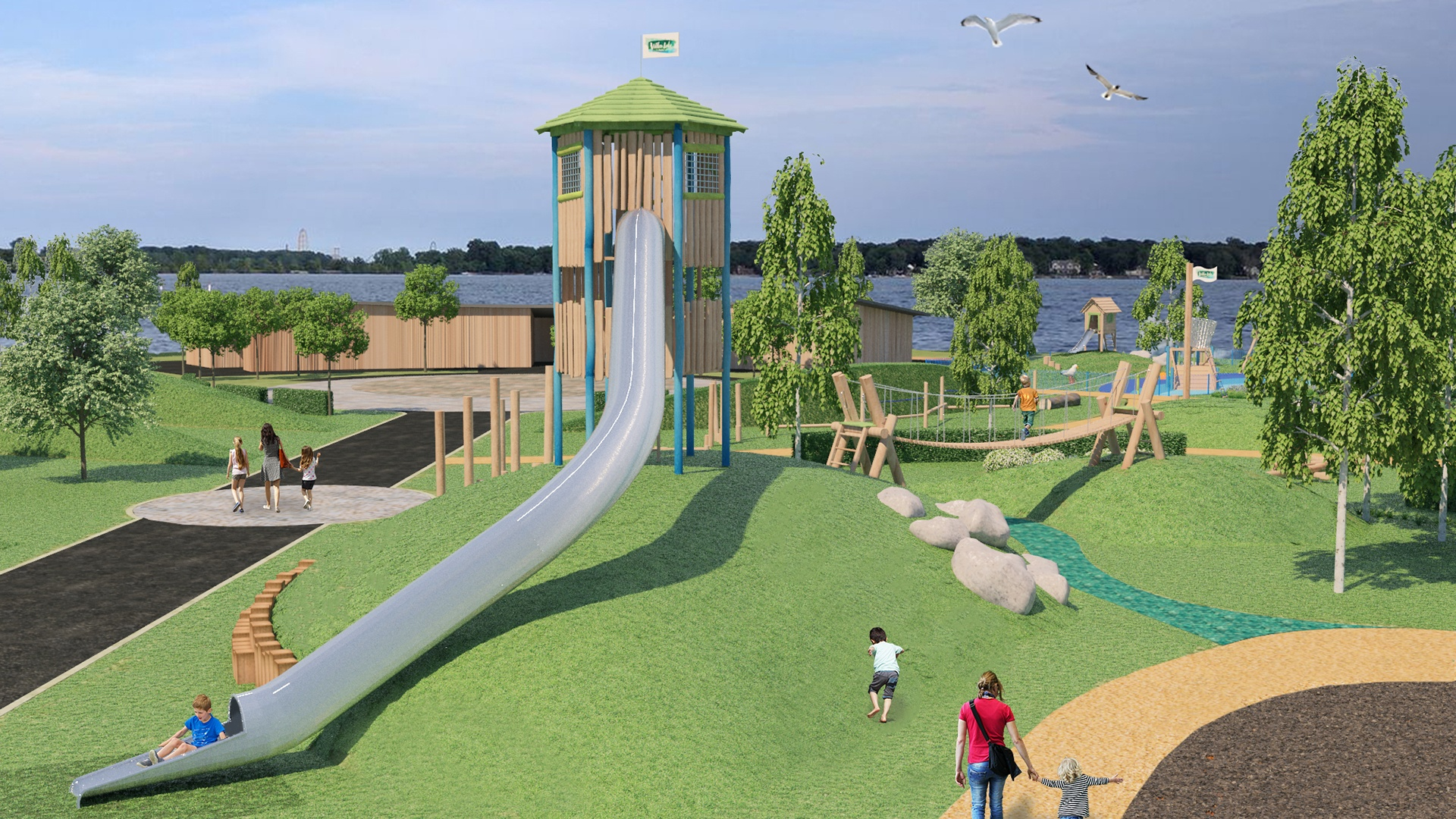 Willen Lake creates over an acre of free play!