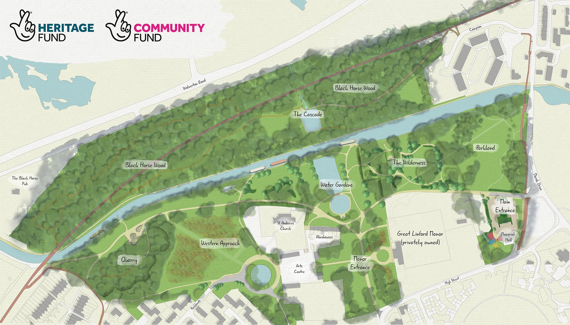 The Parks Trust begin to revive Great Linford Manor Park
